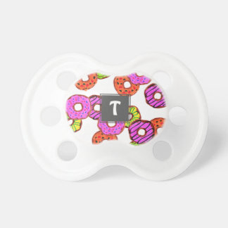 colorful frosted donuts doughnut with sprinkles pacifier