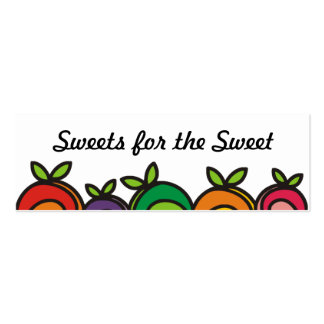 Colorful fruit baking from my kitchen gift tags business card