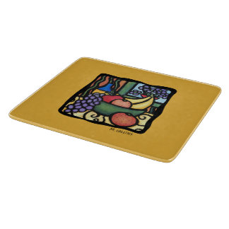 Colorful Fruit Bowl Cutting Board