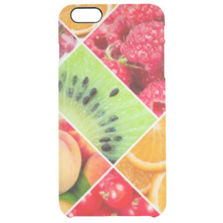 Colorful Fruit Collage Pattern Design Clear iPhone 6 Plus Case