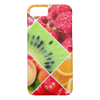 Colorful Fruit Collage Pattern Design iPhone 7 Case