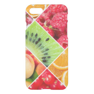 Colorful Fruit Collage Pattern Design iPhone 8/7 Case