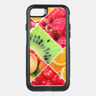 Colorful Fruit Collage Pattern Design OtterBox Commuter iPhone 8/7 Case