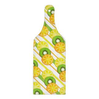 Colorful Fruit Pattern Paddle Cutting Board
