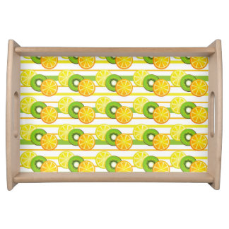 Colorful Fruit Pattern Serving Tray