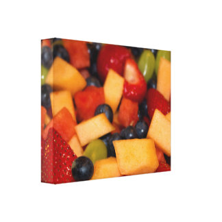 Colorful Fruit Salad Photo Canvas Print