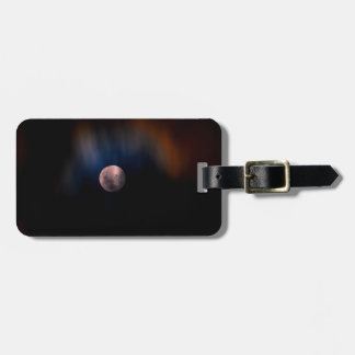 Colorful Full Lunar Moon Rainbow Sky Luggage Tag