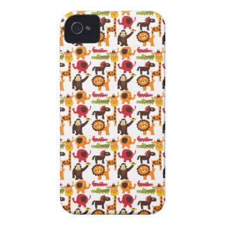 Colorful Fun Cute Jungle Village Safari Zoo Animal iPhone 4 Case