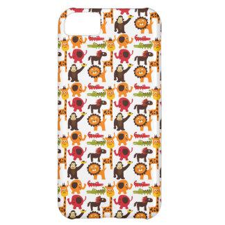 Colorful Fun Cute Jungle Village Safari Zoo Animal iPhone 5C Cover