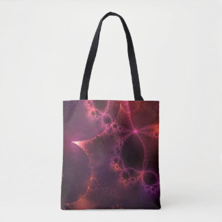 Colorful Fun Deep Pink Abstract Fractal Artwork Tote Bag