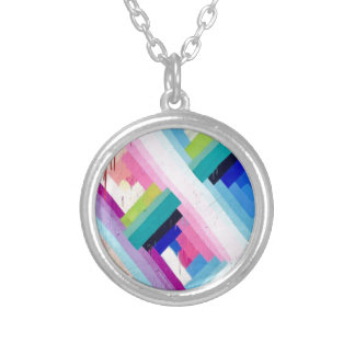 COLORFUL FUN DESIGN SILVER PLATED NECKLACE