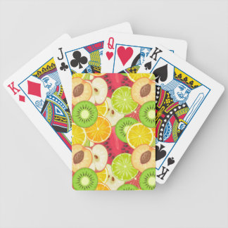 Colorful Fun Fruit Pattern Bicycle Playing Cards