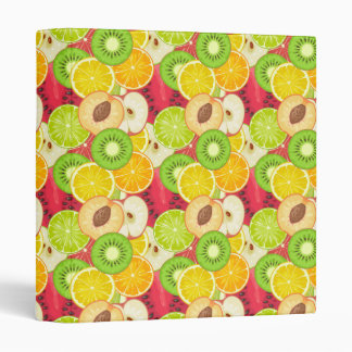 Colorful Fun Fruit Pattern Binders