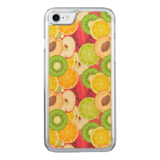 Colorful Fun Fruit Pattern Carved iPhone 8/7 Case