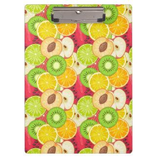 Colorful Fun Fruit Pattern Clipboard