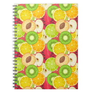 Colorful Fun Fruit Pattern Notebook
