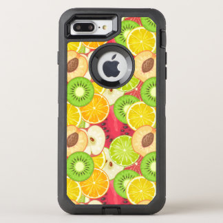 Colorful Fun Fruit Pattern OtterBox Defender iPhone 8 Plus/7 Plus Case