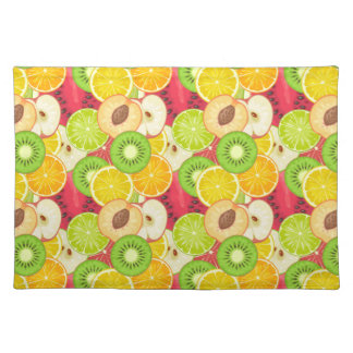 Colorful Fun Fruit Pattern Placemat
