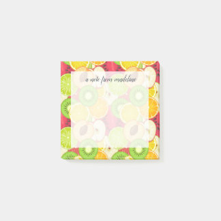 Colorful Fun Fruit Pattern Post-it Notes