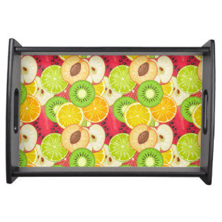 Colorful Fun Fruit Pattern Serving Tray