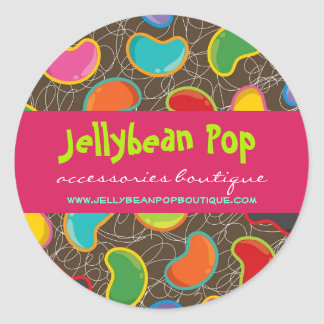 Colorful Fun Retro Jellybeans Pop Custom Sticker