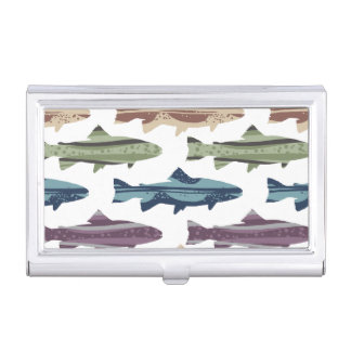 Colorful Fun Trout Fish Pattern Business Card Holder
