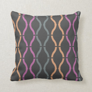 Colorful Funky Geometric Pattern Pillow