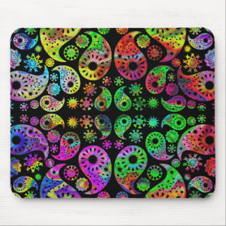 Colorful Funky Paisley Pattern. Mouse Pad
