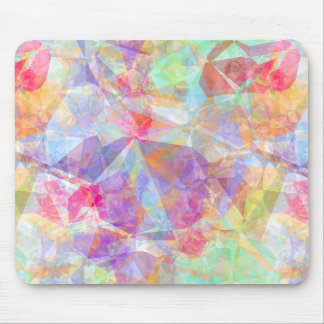 Colorful Funky Retro Cool Polygon Mosaic Pattern Mouse Pad