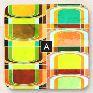 Colorful Funky Retro Inspired Coaster