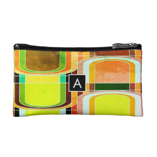 Colorful Funky Retro Inspired Cosmetic Bag