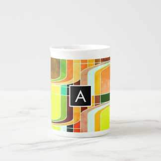 Colorful Funky Retro Inspired Tea Cup