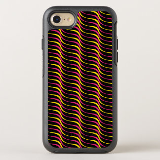 Colorful Funky Retro Wave Lines OtterBox Symmetry iPhone 8/7 Case