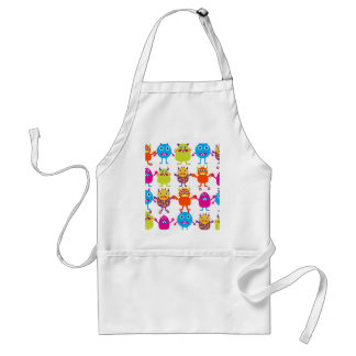 Colorful Funny Monster Party Creatures Bash Aprons