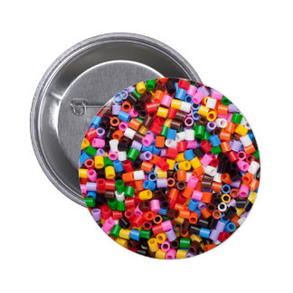 Colorful fusible plastic beads 2 inch round button