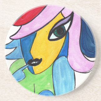 Colorful Gal Beverage Coaster