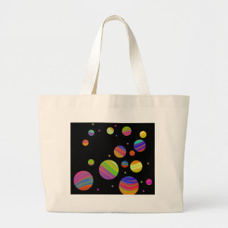 Colorful galaxy large tote bag