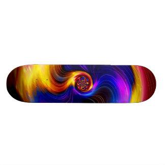 Colorful galaxy skate board decks