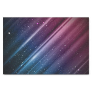Colorful galaxy tissue paper