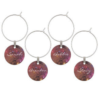 Colorful Galaxy Wine Charms