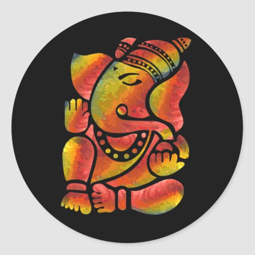 Colorful Ganesha Painting Stickers