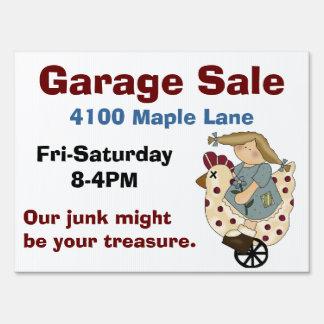 Colorful Garage Sale Yard Sign
