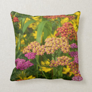 Colorful Garden Flowers Pillow