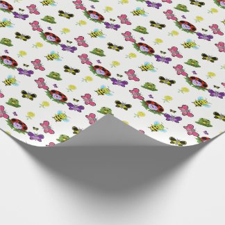 Colorful Garden Matte Wrapping Paper