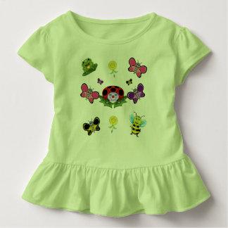 Colorful Garden Toddler Ruffle Tee