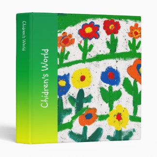 Colorful garden vinyl binders