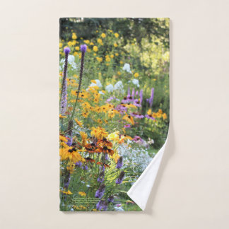 Colorful Gardens Along the Pathways! Hand Towel