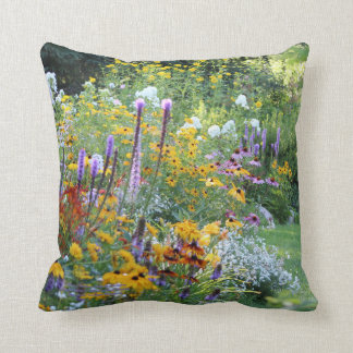 Colorful Gardens Along the Pathways Throw Pillow