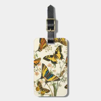 Colorful Gathering of Butterflies and Caterpillars Luggage Tag