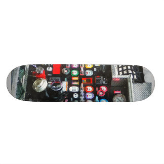 Colorful Gauges on Fire Truck Skate Board